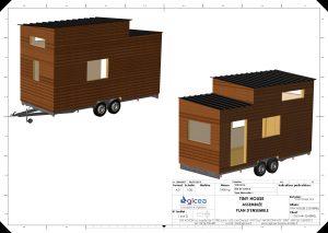 plan de tiny house