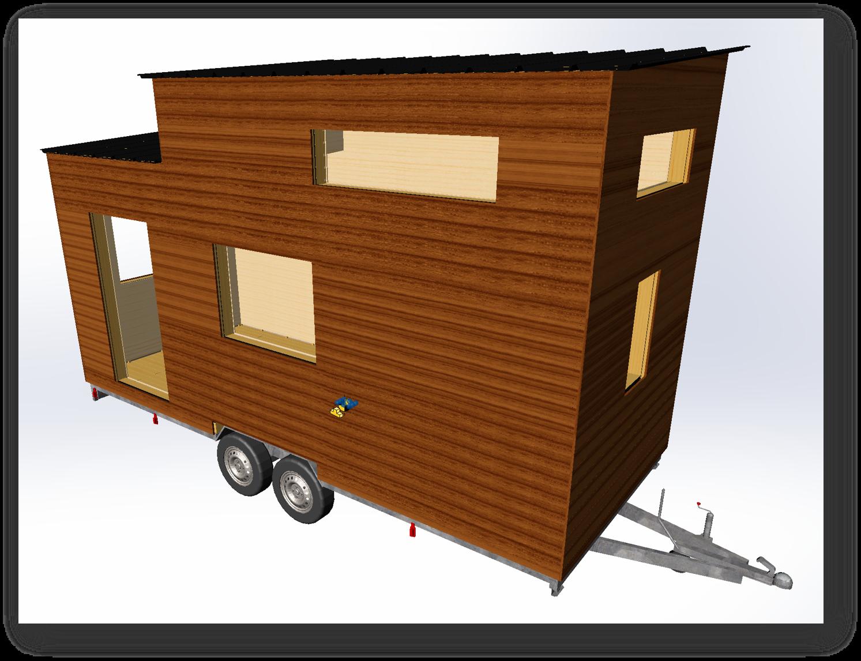 plan 3D de maison itinérante